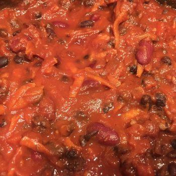 10 minute mexican vegan chilli
