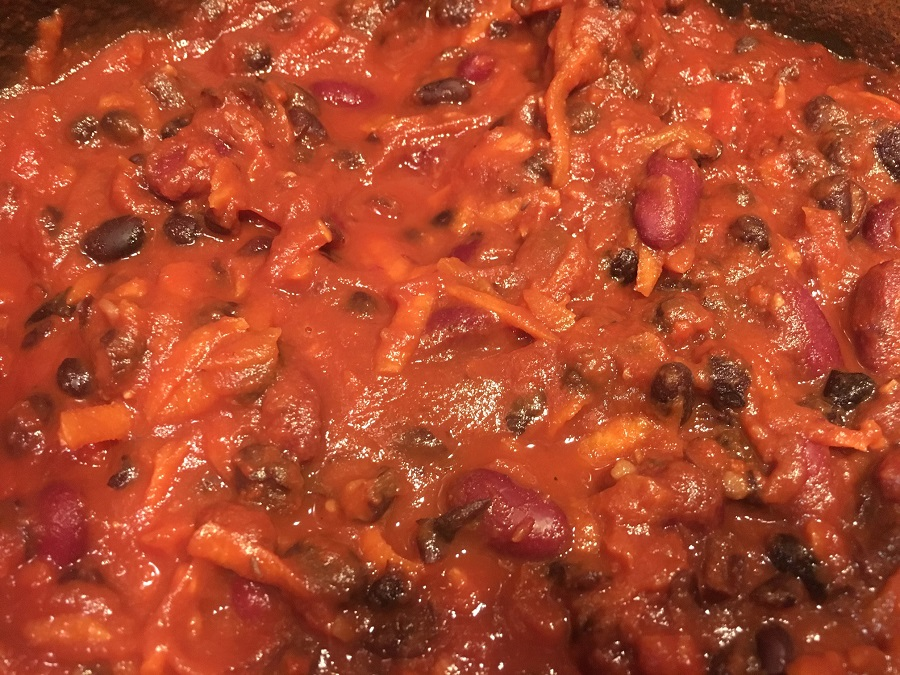 10 minute mexican vegan chilli