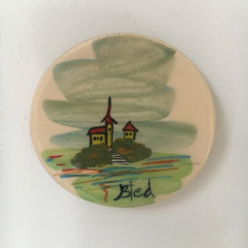 lake bled fridge magnet