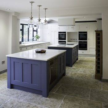 double kitchen island